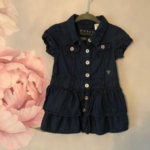 Guess Jeans Denim Baby / Toddler Dress NWOT